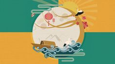 The Mid-Autumn festival project. Chinese Element, Chinese Art, Mid Autumn Festival, Festival 2016, Food Festival, Chinese New Year Design, Chinese Festival, Autumn Illustration, New Year Designs