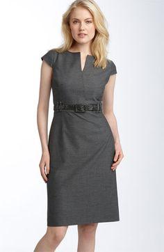 Tahari by Arthur S. Levine Belted Split Neck Sheath Dress Another sheath option.