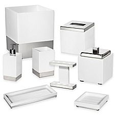 $25-$109 image of Suites Bath Ensemble in White/Stainless Steel, Bed, Bath & Beyond