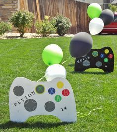 Best xbox game room ideas - home designs Xbox Party, Game Truck Party, Party Games, 9th Birthday Parties, Birthday Games, 11th Birthday, Birthday Ideas, Golden Birthday, Super Mario Bros
