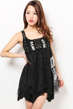 XENON: (ON SALE) Ghost of Harlem - Spider Web Lace Stitched One Piece Dress Black