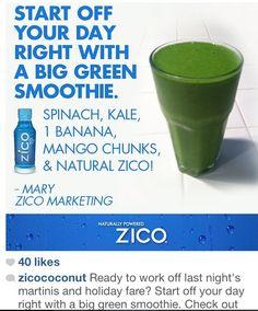 kale/banana/mango/spinach/coconut water