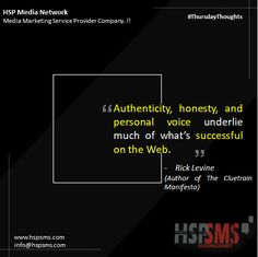 Does your brand have a voice? What are the attributes of your voice? Authenticity should be one of those. Without authenticity, your brand's voice won't ring true to audiences.  HSP Media Network (Media Marketing Service Provider Company)  #thursdayvibes #thursdaythoughts #marketingthoughts #thoughtsoftheDay #marketing #thursday #thursdaymotivational #bulksms #smsmarketing #marketingquote #hspsms #hspmedianetwork #authenticity #honesty #voice #successful #web Marketing Quotes, Media Marketing, Ring True, Your Voice, Honesty, Authenticity, Thursday, Success, Author
