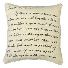 To my Sweet Darlings Pillow from PoshTots #pillowtalk #inspirationalpillow #pillow #greatgifts