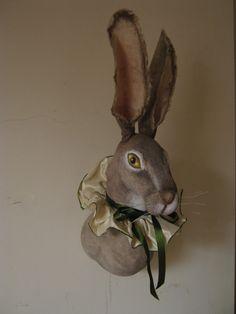Jackrabbit Hare Soft Sculpture Trophy head by winding on Etsy