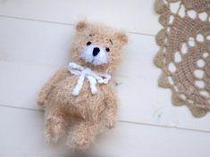4 inches miniature Teddy bear Blythe friend artist teddy bear