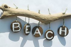 Driftwood Wall Art All Things Coastal Tropical Decor by Seagypsys, $50.00