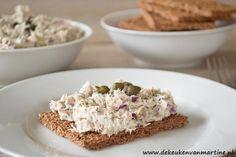 Voedzame salade met makreel. Makreel is een vette vis en rijk aan omega-3-vetzuren!