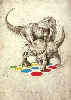 twister... - (dinosaurs)(illustration) - #twister #dinosaurs #illustration
