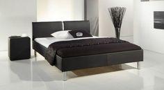 Schlichtes Kunstlederbett in zwei Farben. | Betten.de http://www.betten.de/Betten/Polsterbetten/victorville-kunstleder-schwarz.html
