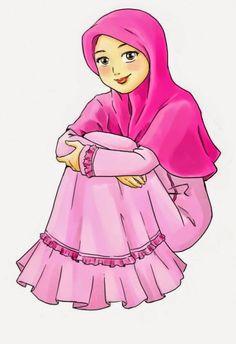Gambar Kartun Muslimah Bercadar Ajib Muslim Anime Cantik Sedih Keren