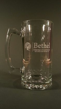 Customer engraved beer mug, we used their logo from a business card, we then engraved their logo on a beer mug , hand made one at a time by hand in the USA Engraved Beer Mugs, Tableware, Logo, Usa, Business, Dinnerware, Logos, Tablewares, Store