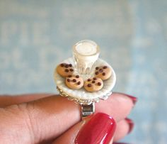 Cookie and Milk ring by  by jilliciouscharms ($13.50 USD) | http://www.luulla.com/product/60977/frhttp://www.luulla.com/product/61001/cookie-and-milk-ring