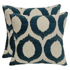 Ogee Jacquard Pillow with Suede Back - Brentwood : Target