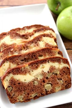 This Apple Cinnamon Cream Cheese Bread is perfect to enjoy with a coffee on a warm autumn day! Cream Cheese Bread, Soften Cream Cheese, Cinnamon Cream Cheeses, Apple Recipes, Fall Recipes, Baking Recipes, Loaf Recipes, Cinnamon Cheesecake, Apple Fritter Bread