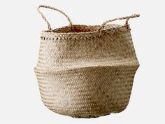 Natural Seagrass Small Belly Basket from Dear Keaton Storage Containers, Storage Baskets, Extra Storage, Toy Storage, Wire Storage, Belly Basket, Joss And Main, Straw Bag, House Doctor