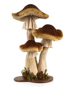 Another great find on #zulily! Tan & Brown Mushroom Décor #zulilyfinds