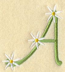 Floral Letter A
