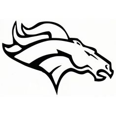 bronco football logos black cad cut denver broncos primary logo rh pinterest com  denver broncos clip art