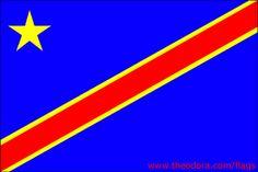 Democratic republic flag of congo