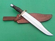 "D2 Knife Custom Handmade - 15.00"" BEAUTIFUL  D2 STEEL BOWIE KNIFE LEATHER HANDLE #handmade D2 Steel, Damascus Steel, Everyday Carry, Leather Handle, Bowie, My Ebay, Hunting, Handmade, Beautiful"