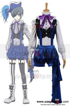 Black Butler  Kuroshitsuji 3 Earl Ciel Phantomhive Uniform Dress Cosplay Costume, made in your own measurements