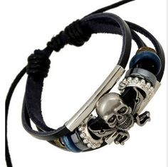 Jewelry & Accessories Punk Jewelry Leather Men Bracelet 3 Lion Head Charms Handmade Knitting Leather Bracelet For Valentines Day Present Available In Various Designs And Specifications For Your Selection Chain & Link Bracelets