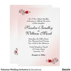 Valentine Wedding Invitation #halfprice #sale #shopping
