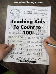 Teaching Kids To Count To 100!