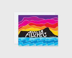 Aloha Diamond Head Card – Nico Made
