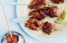 Chicken Thigh Kebabs with Chile-Yogurt Sauce Recipe | http://aol.it/1q8NGf1