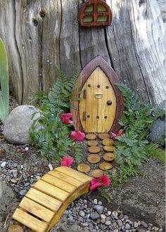 Fairy door at bottom of garden