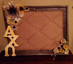 Crafting for my little. Alpha Chi Omega <3