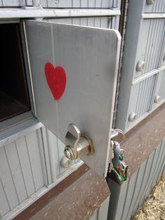 a felt heart in a mail art package