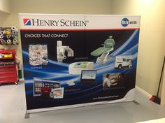 10' trade show display for Henry Schein.  www.pinnaclesignworks.com