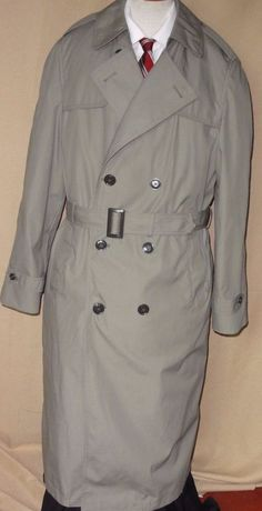 DSCP Valor Collection USMC Issue Men's Khaki trench coat with Liner, Size 42XL #Dscp #Trench