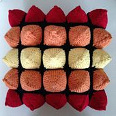 Ravelry: A Clockwork Orange Cushion pattern by Laura Blackwell