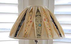 Pantalla de lámpara como nueva con tela reciclada