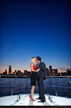 Engagement Photo - love the idea, but with Denver in the background!