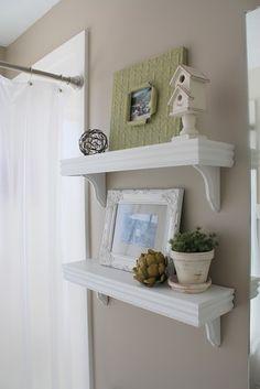 cute shelves for bathroom