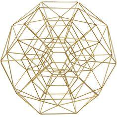 Geometric Sphere Decor : brass sculpture