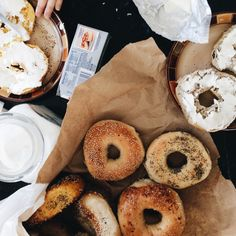 My kind of morning - Bagels for breakfast