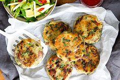 Kumara and lamb cakes - Recipes - Eat Well with Bite Kiwi Recipes, Lamb Recipes, Dinner Recipes, Dinner Ideas, Potluck Recipes, Lunch Ideas, Meal Ideas, Food Ideas, Potluck Dinner