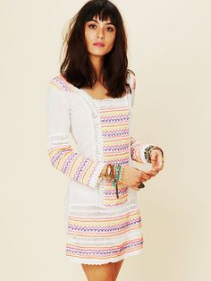 Letarte Neon Lights Cover Up at Free People Clothing Boutique