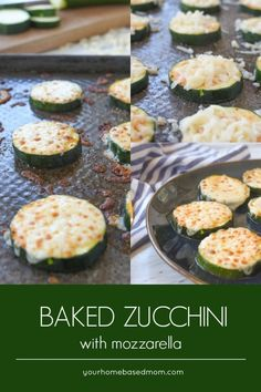 Baked Zucchini with Mozzarella is the perfect solution to too much zucchini. Topped with mozzarella you won't be able to stop the kids from eating their veggies! Bake Zucchini, Zucchini Fries, Zuchinni Recipes, Roast Zucchini, Gluten Free Puff Pastry, Cooking Recipes, Healthy Recipes, Fast Recipes, Healthy Foods