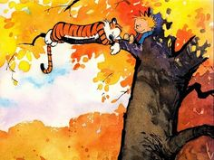 adorable calvin and hobbes