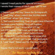 The Martian by Andy Weir The Martian Novel, Movie Quotes, Book Quotes, Andy Weir, Space Pirate, Book Of Life, Movies And Tv Shows, Book Lovers, Book Worms