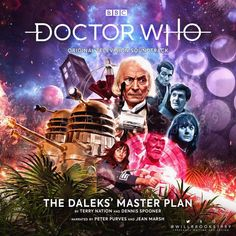 The Daleks' Master Plan I Am The Doctor, Bbc Doctor Who, Jean Marsh, Big Finish, William Hartnell, Cd Cover, Time Lords, Master Plan, Dr Who