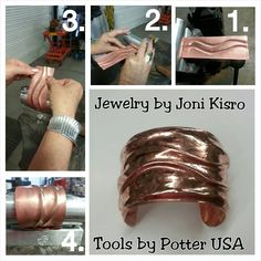 Bracelet Bender:  A step by step pictorial on how to make ONE of the many different style bracelets you can create using Kevin Potters Bracelet Bender Deluxe Kit from Potter USA- Bracelet designed by Joni Kisro #braceletbender