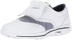 These water resistant womens go golf kiltie golf shoes by Skechers are made from leather and textile and come with a breathable mesh design! Girl Golf Outfit, Cute Golf Outfit, Girls Golf, Ladies Golf, Golf Books, Skechers Performance, Womens Golf Shoes, Golf Quotes, Golf Gifts